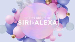 Casamento da Siri com a Alexa