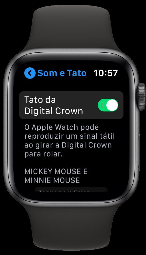 Ajuste da Digital Crown do Apple Watch