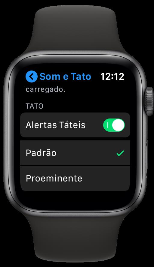 Ajuste de tato no Apple Watch