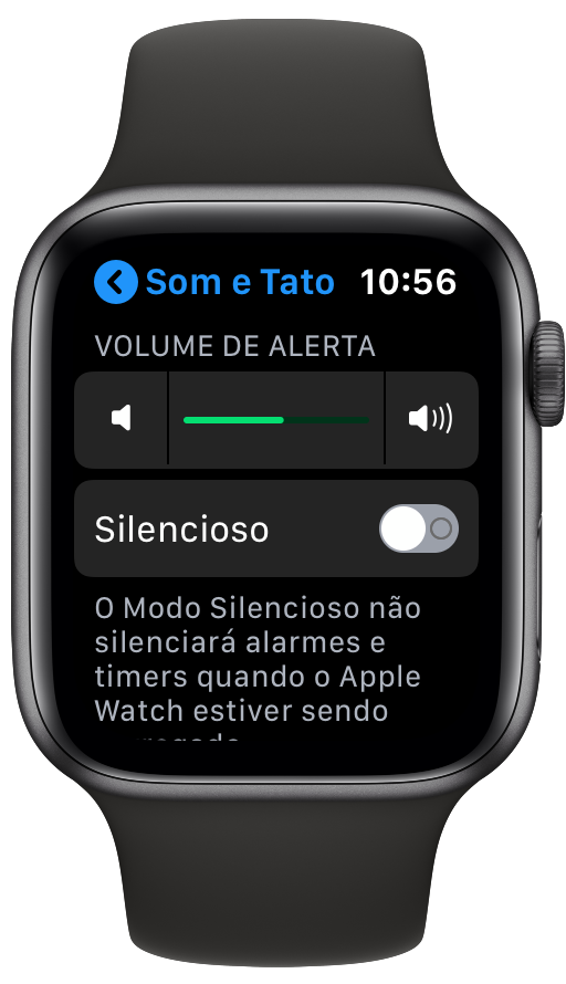 Alerta de volume no Apple Watch