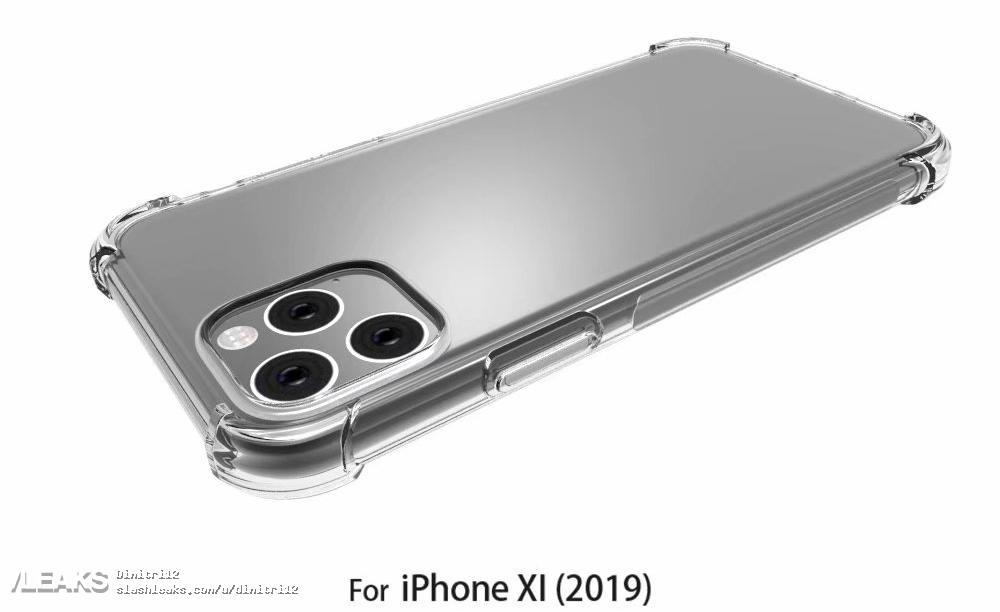 """Render de case do """"iPhone XI"""" pelo Slashleaks"""