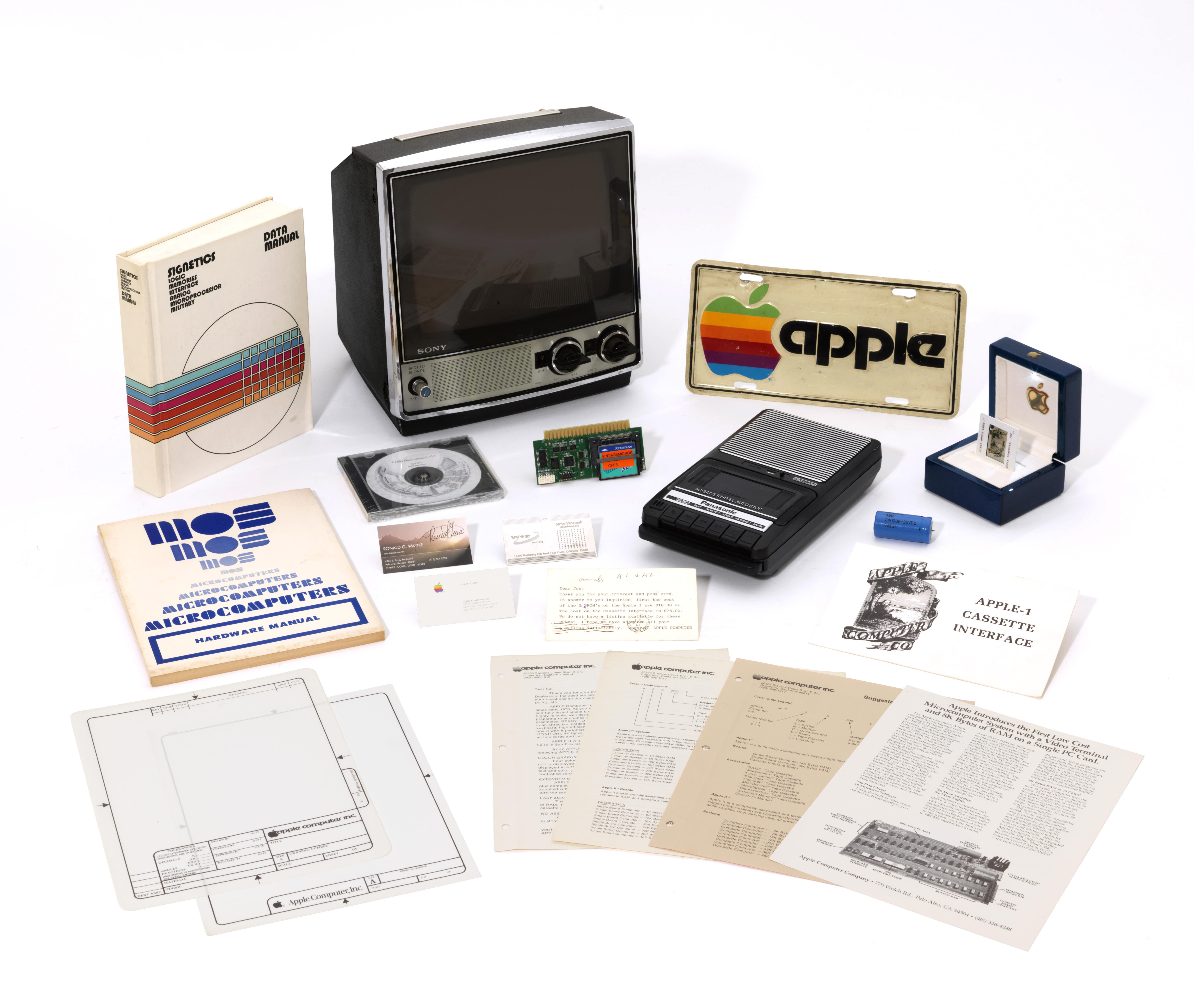 Apple I e documentos de executivos