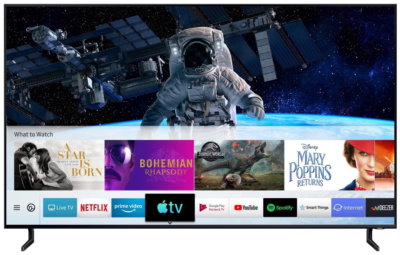 Aplicativo Apple TV numa Smart TV da Samsung