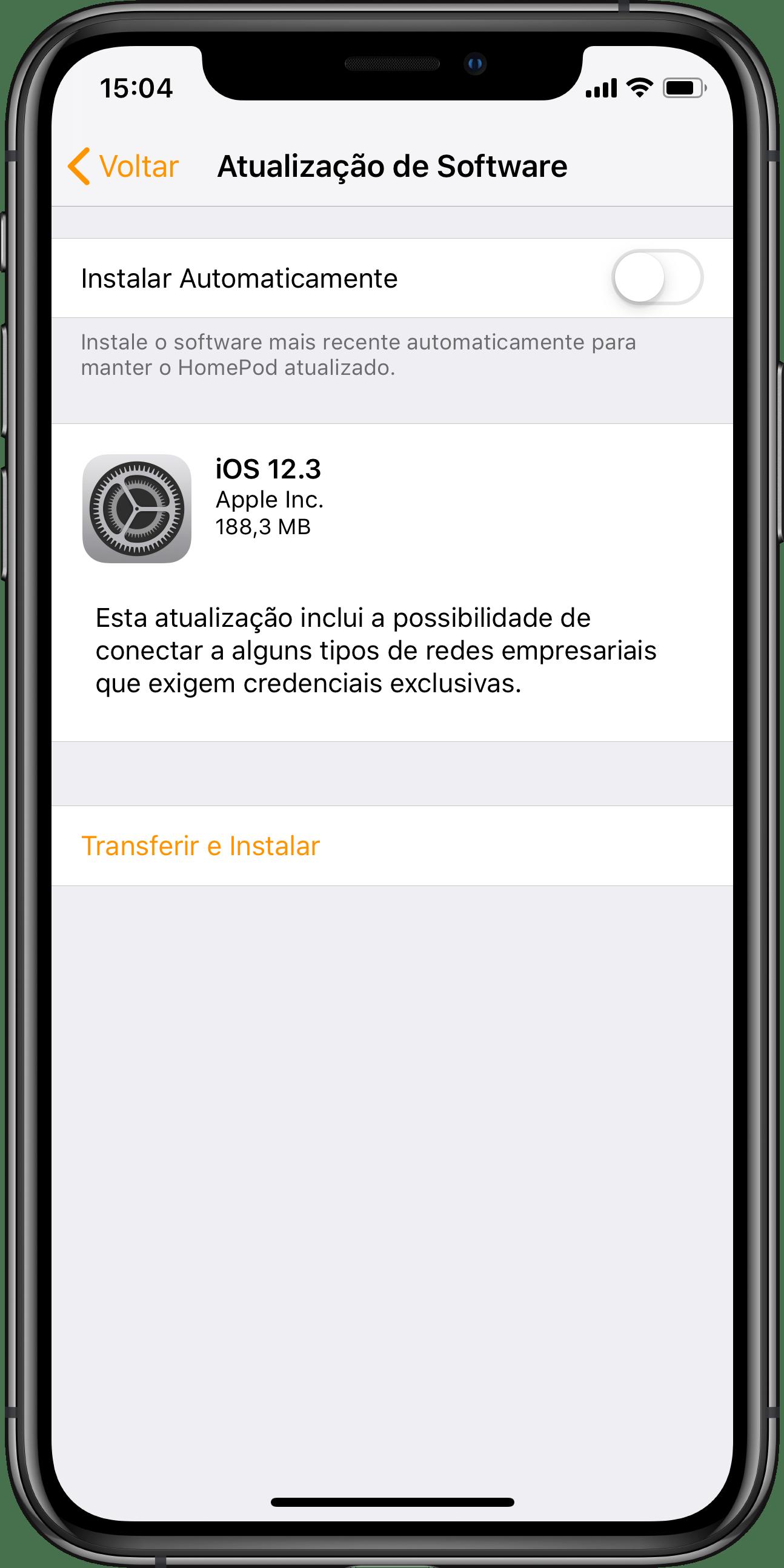 iOS 12.3 para HomePods
