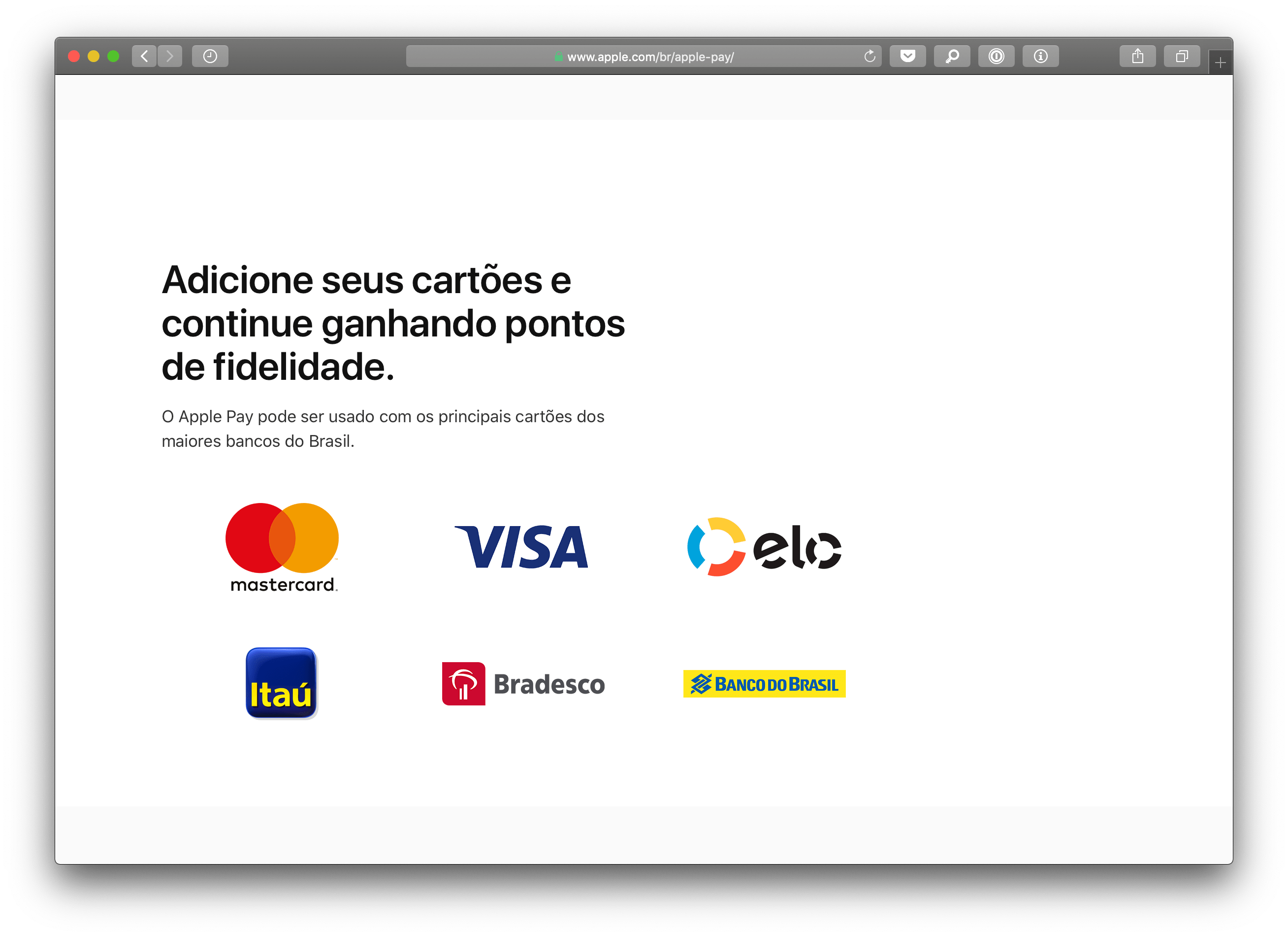 Bandeira Elo no Apple Pay