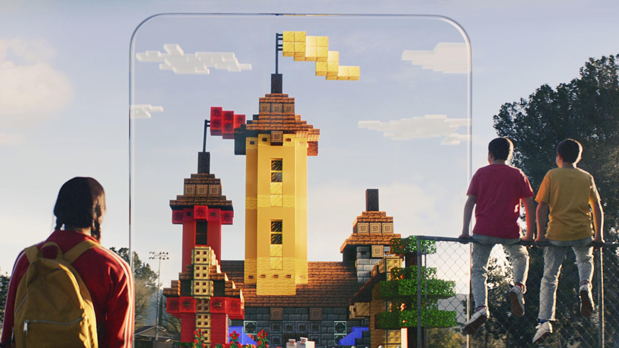 Jogo de realidade aumentada Minecraft Earth