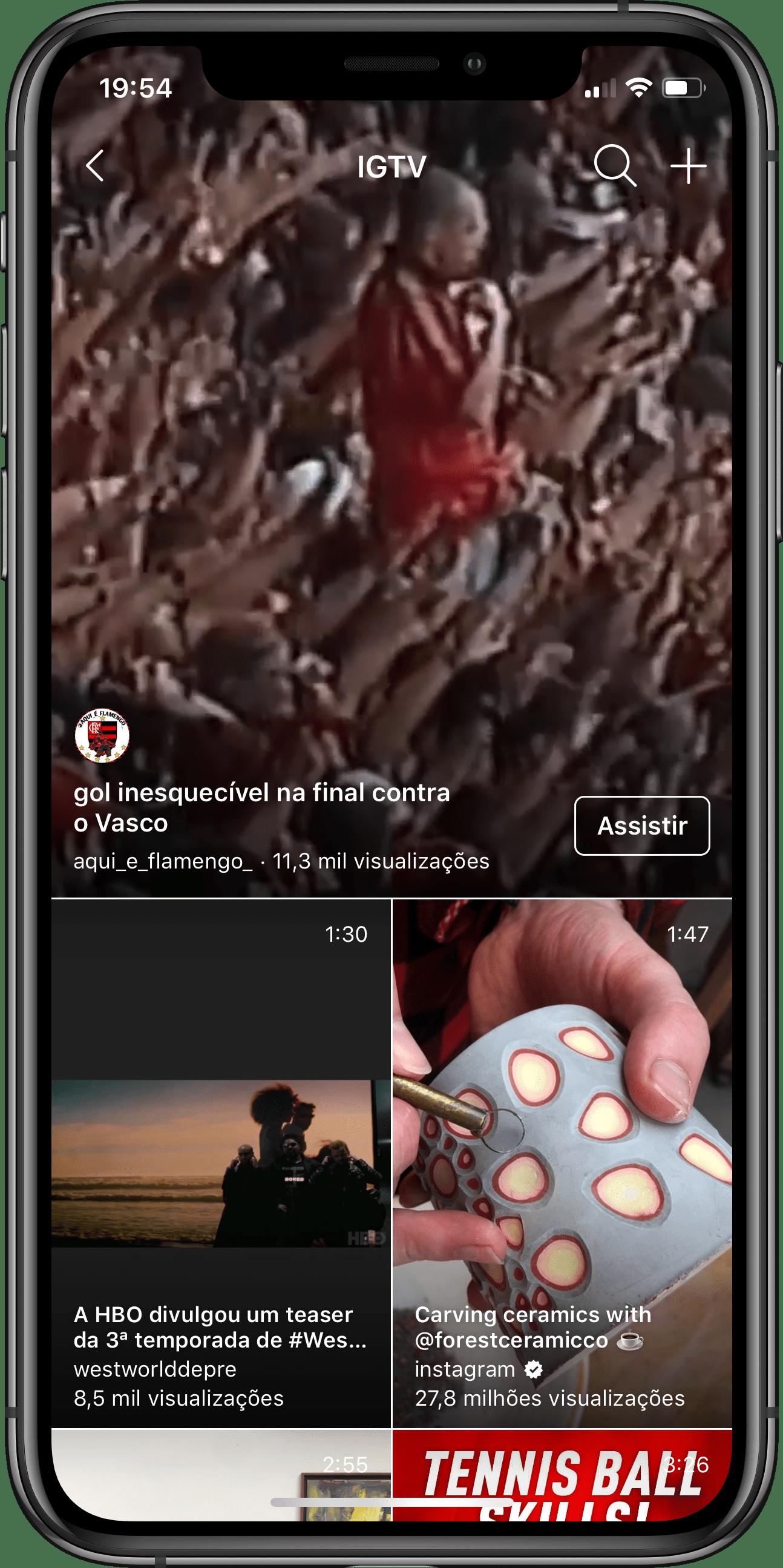 Novo design do IGTV