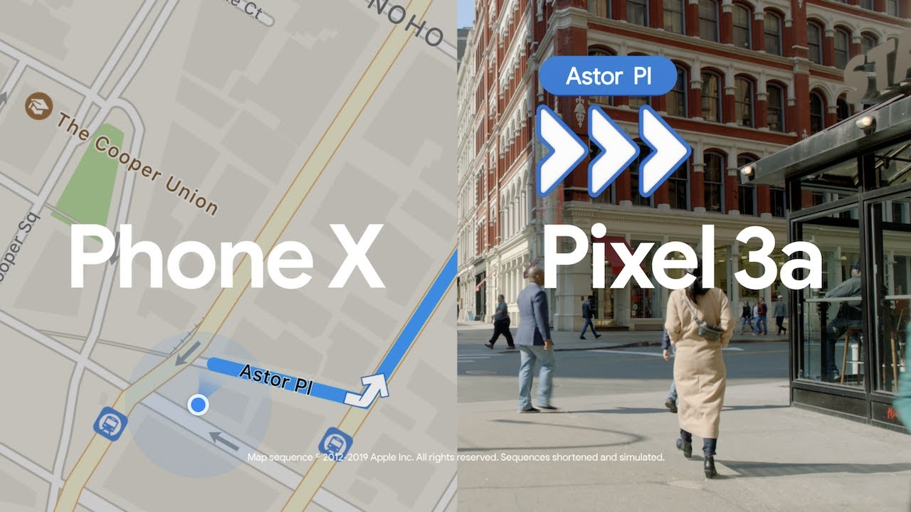 Comercial do Pixel 3a