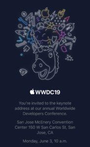 Convite para a WWDC19