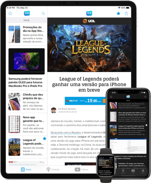 App do MacMagazine - versão 4.0 (iPad Pro, iPhone XS Max e Apple Watch Series 4)