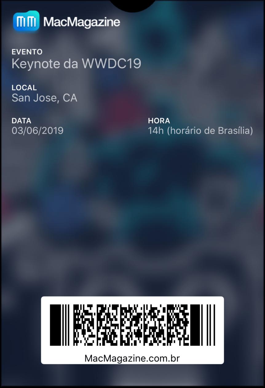 Tíquete da WWDC19