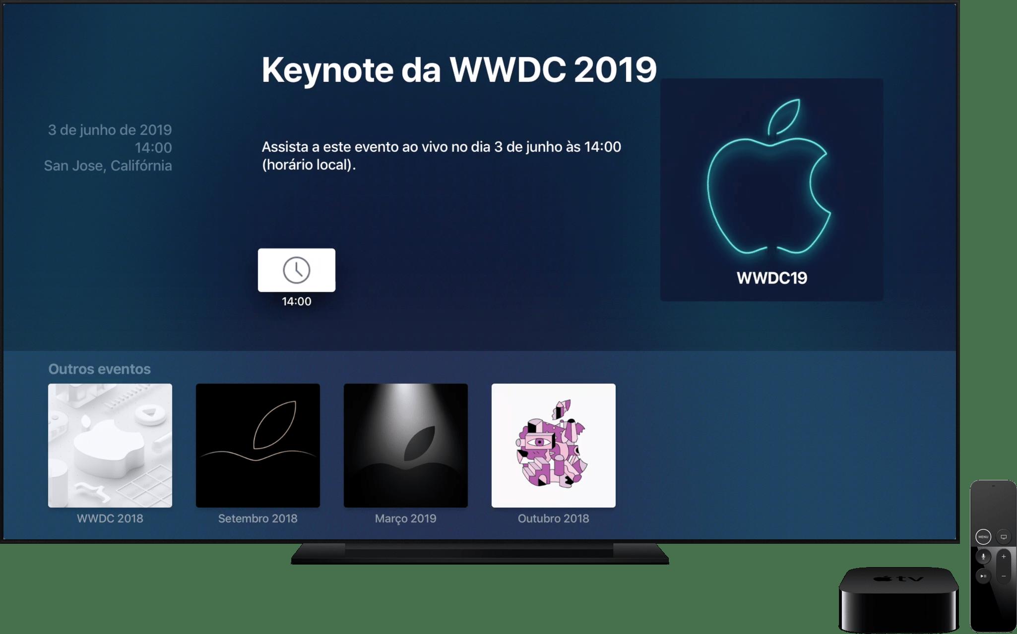 Apple Events para tvOS