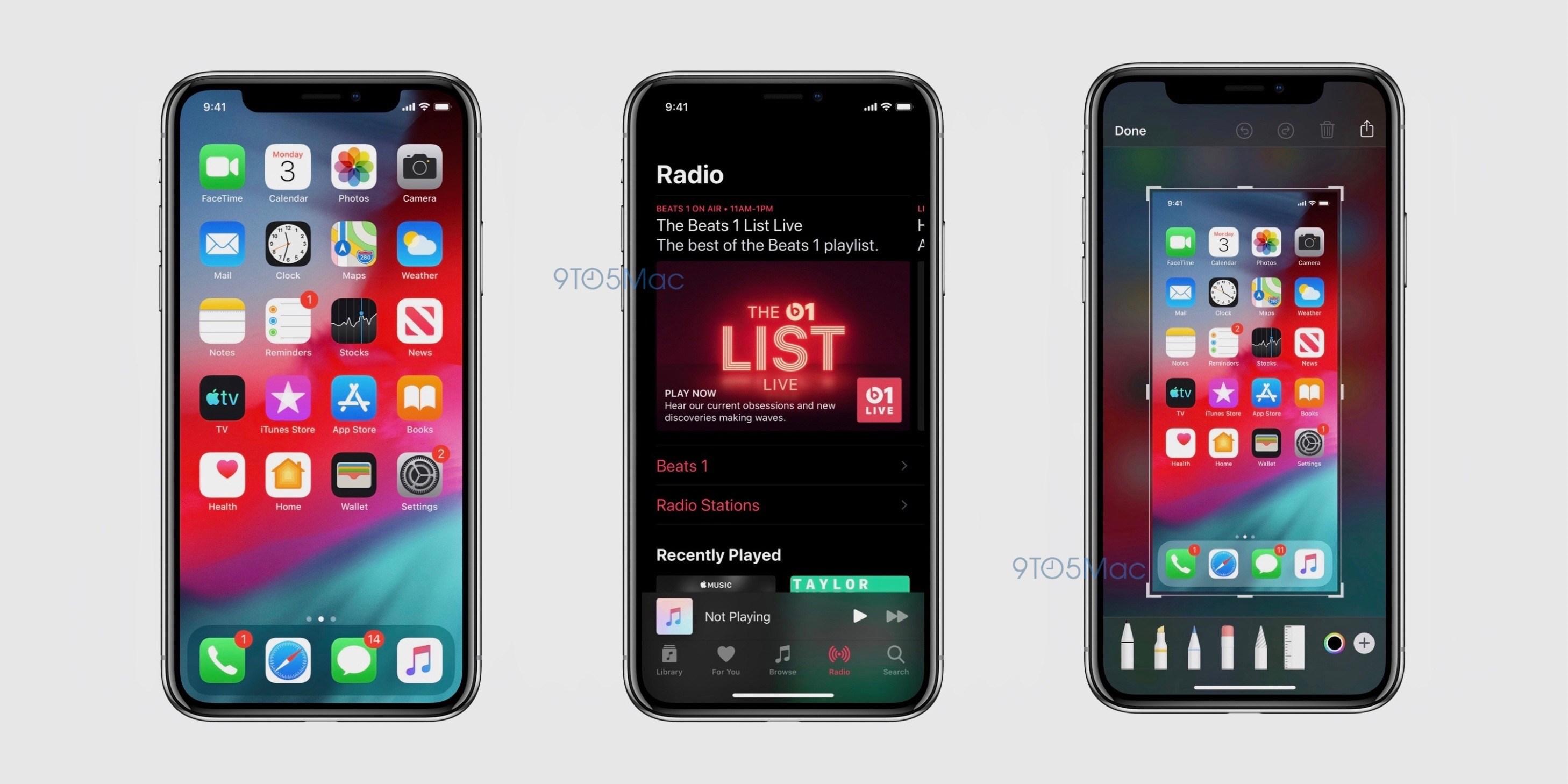 Screenshot do iOS 13
