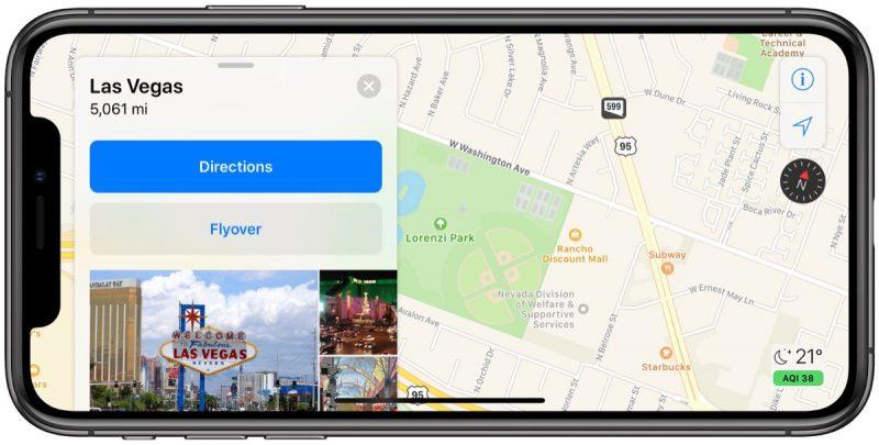 Mapas da Apple atualizados em Las Vegas