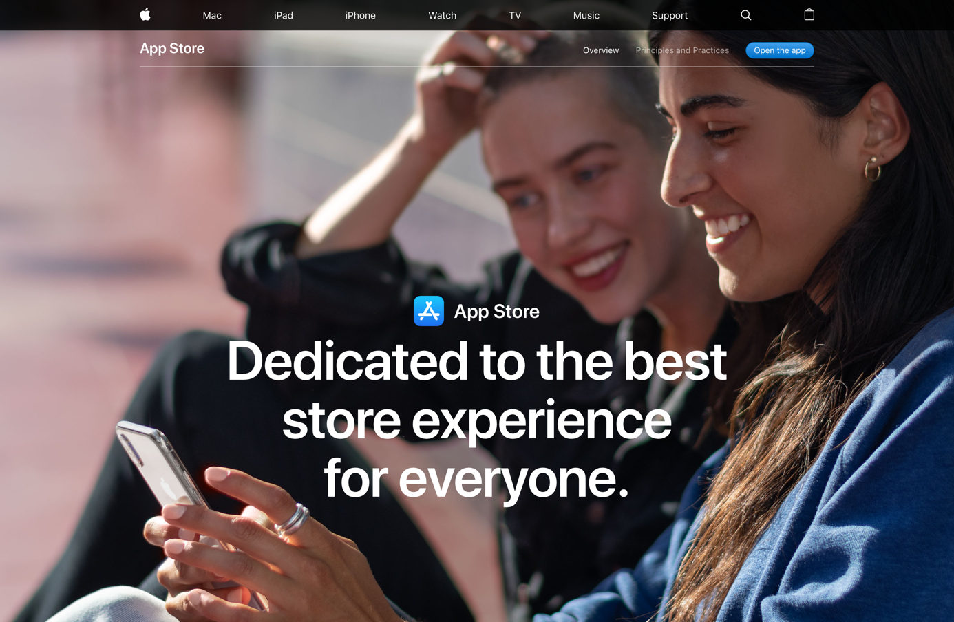 """Nova página de """"princípios e práticas"""" da App Store no site da Apple"""