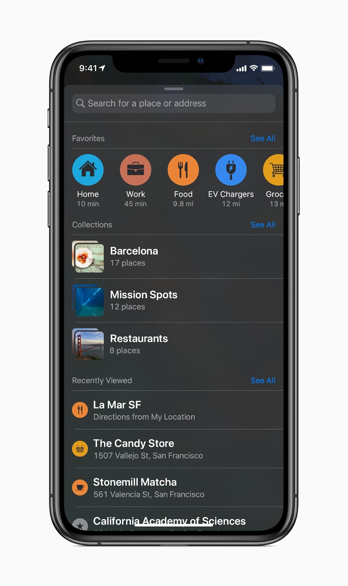 Novos recursos do app Mapas no iOS 13