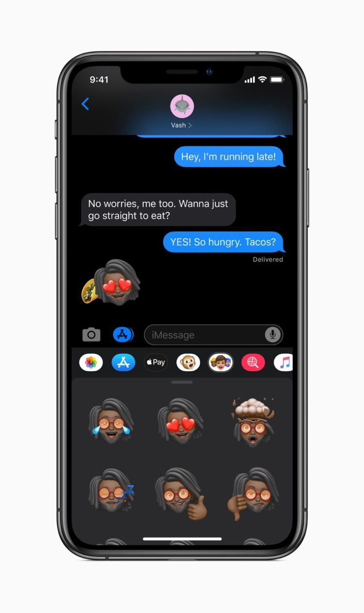 Memoji no app Mensagens do iOS 13