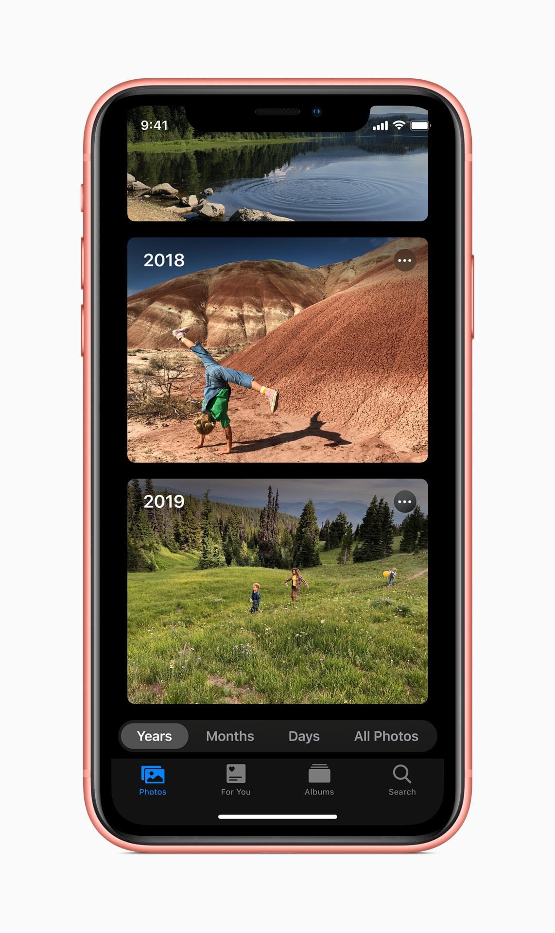 Navegando por fotos no iOS 13