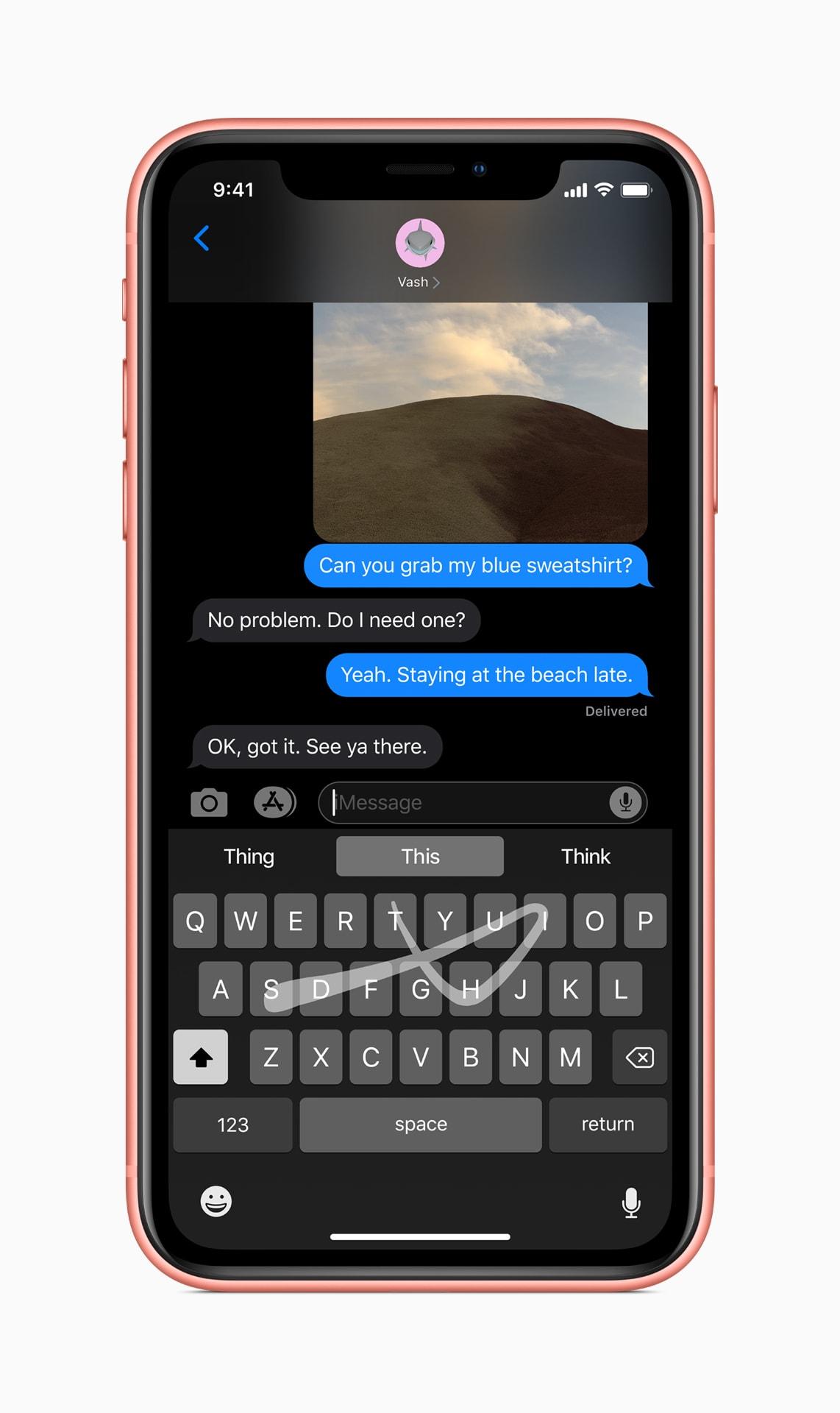 QuickPath no teclado do iOS 13