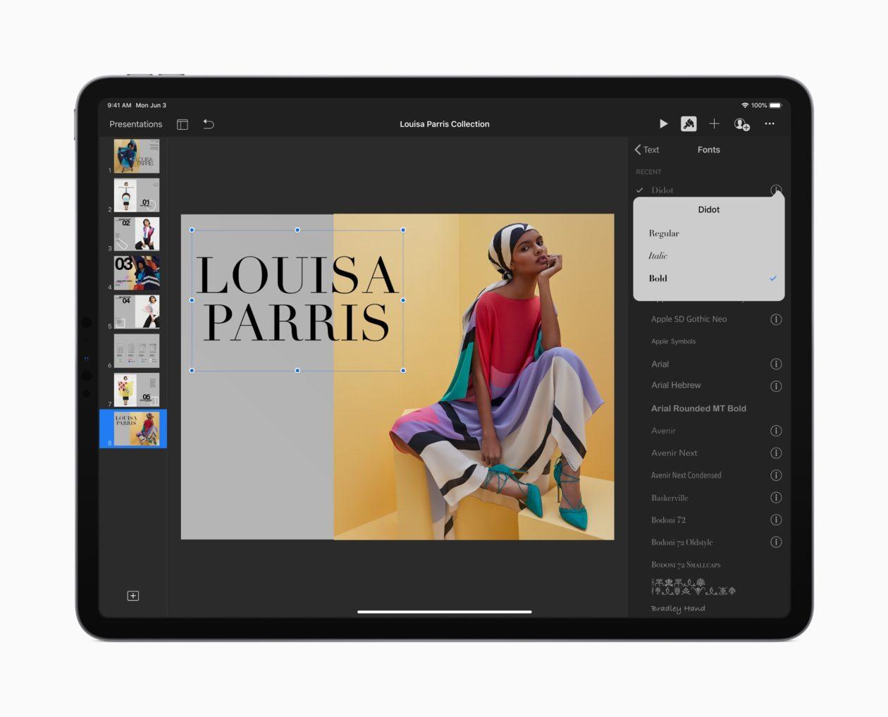 Fontes personalizadas no iPadOS 13
