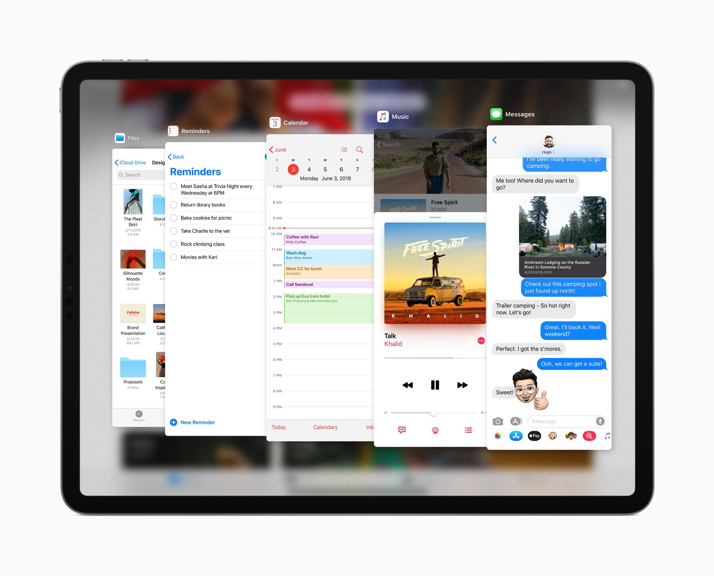 Multitarefa no iPadOS 13 com Slide Over