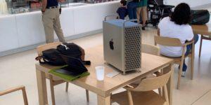 Mac Pro em simulação no ARKit