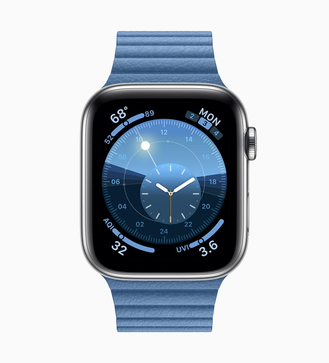 Novo mostrador do watchOS 6