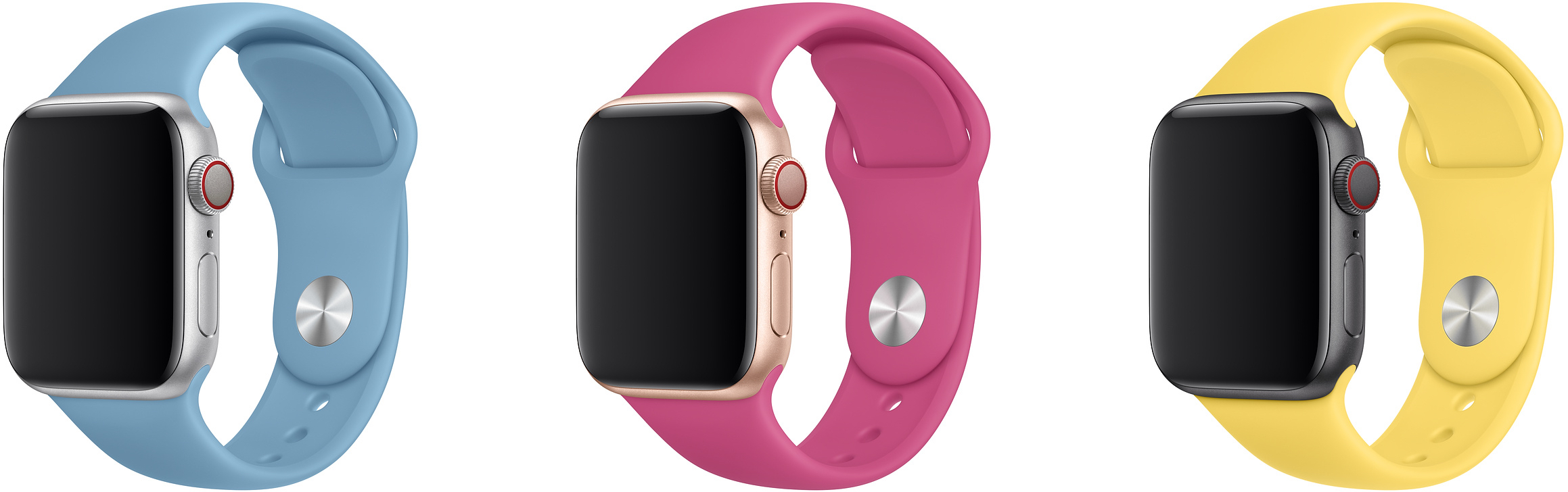 Novas cores da pulseira esportiva do Apple Watch