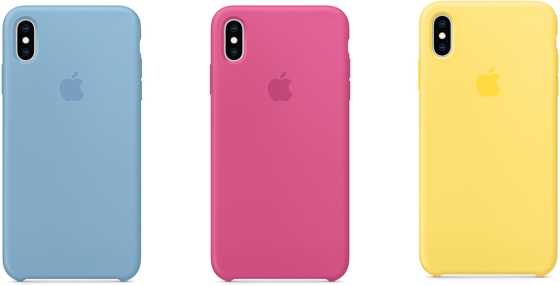 Novas cores da capa de silicone dos iPhones XS e XS Max
