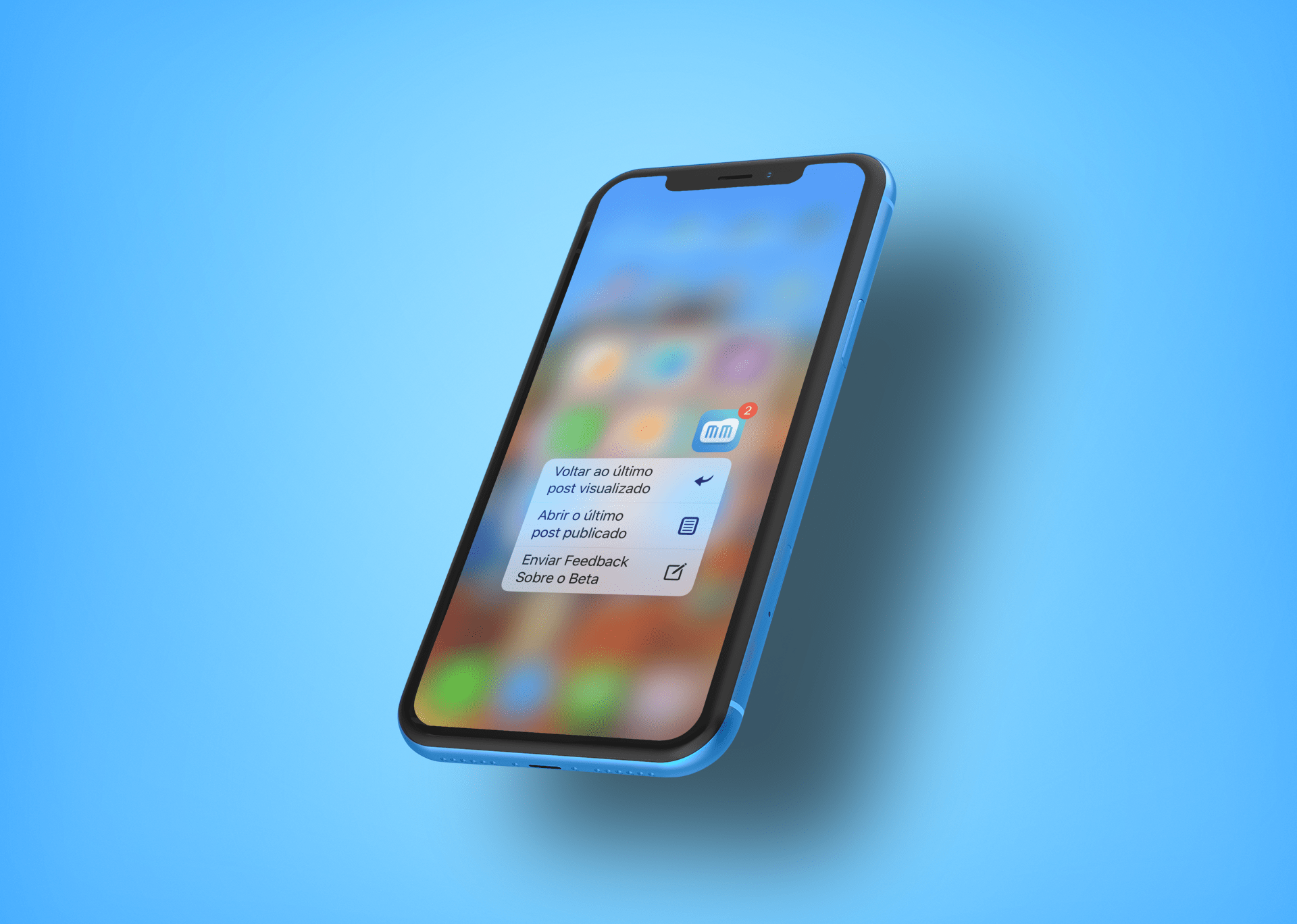 Ações rápidas no iPhone XR