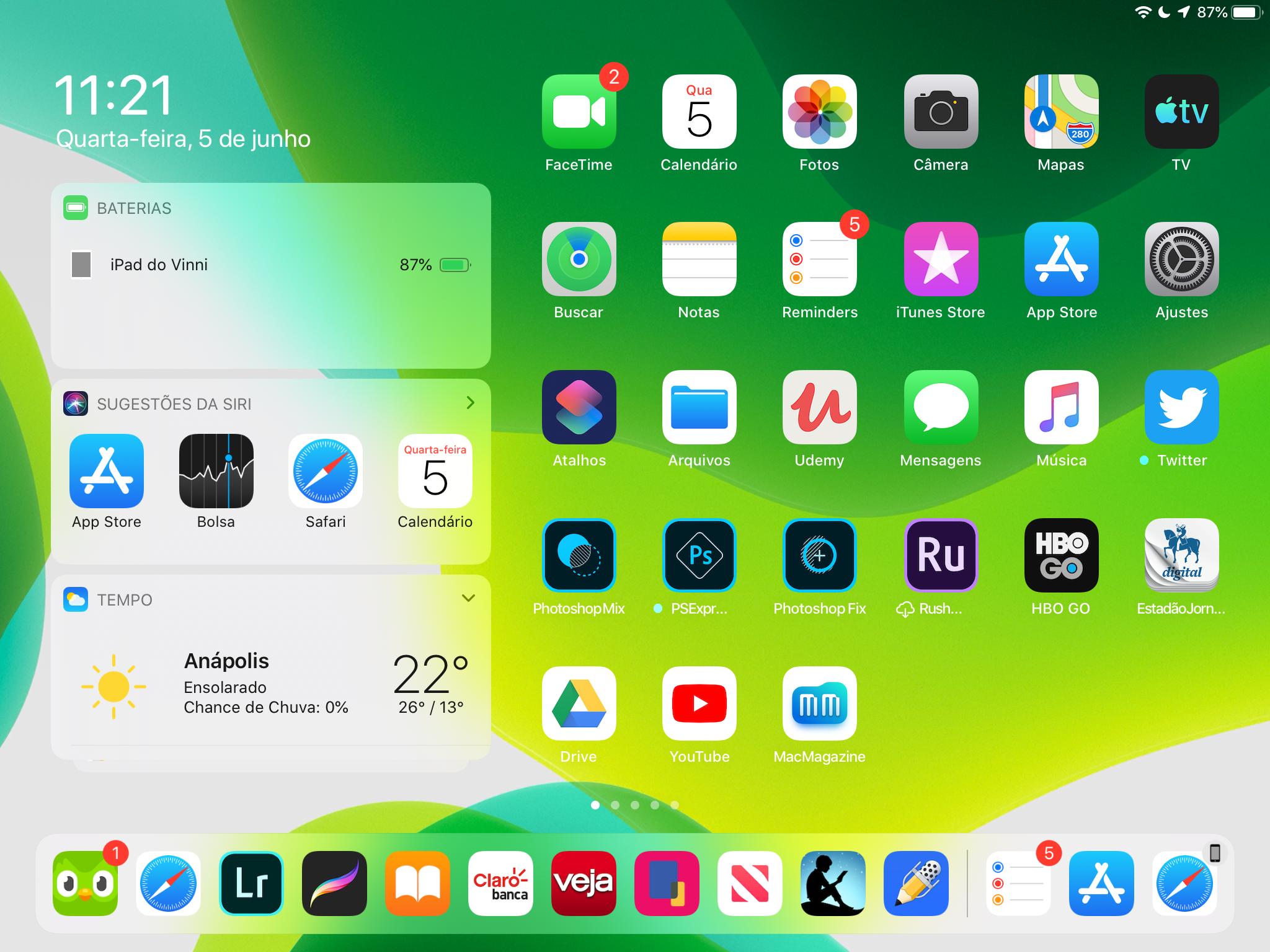 Screenshot do iPadOS 13