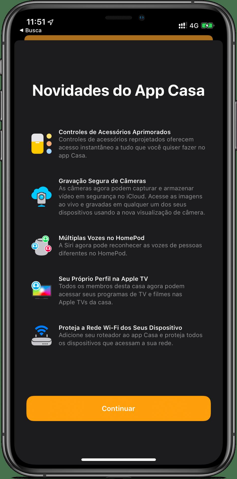 App Casa no iOS 13