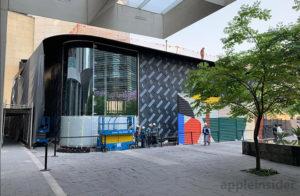 Vista lateral da nova flagship da Apple na Cidade do México