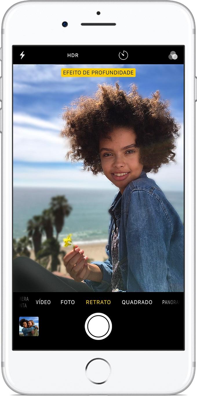 Modo Retrato no iPhone 8 Plus