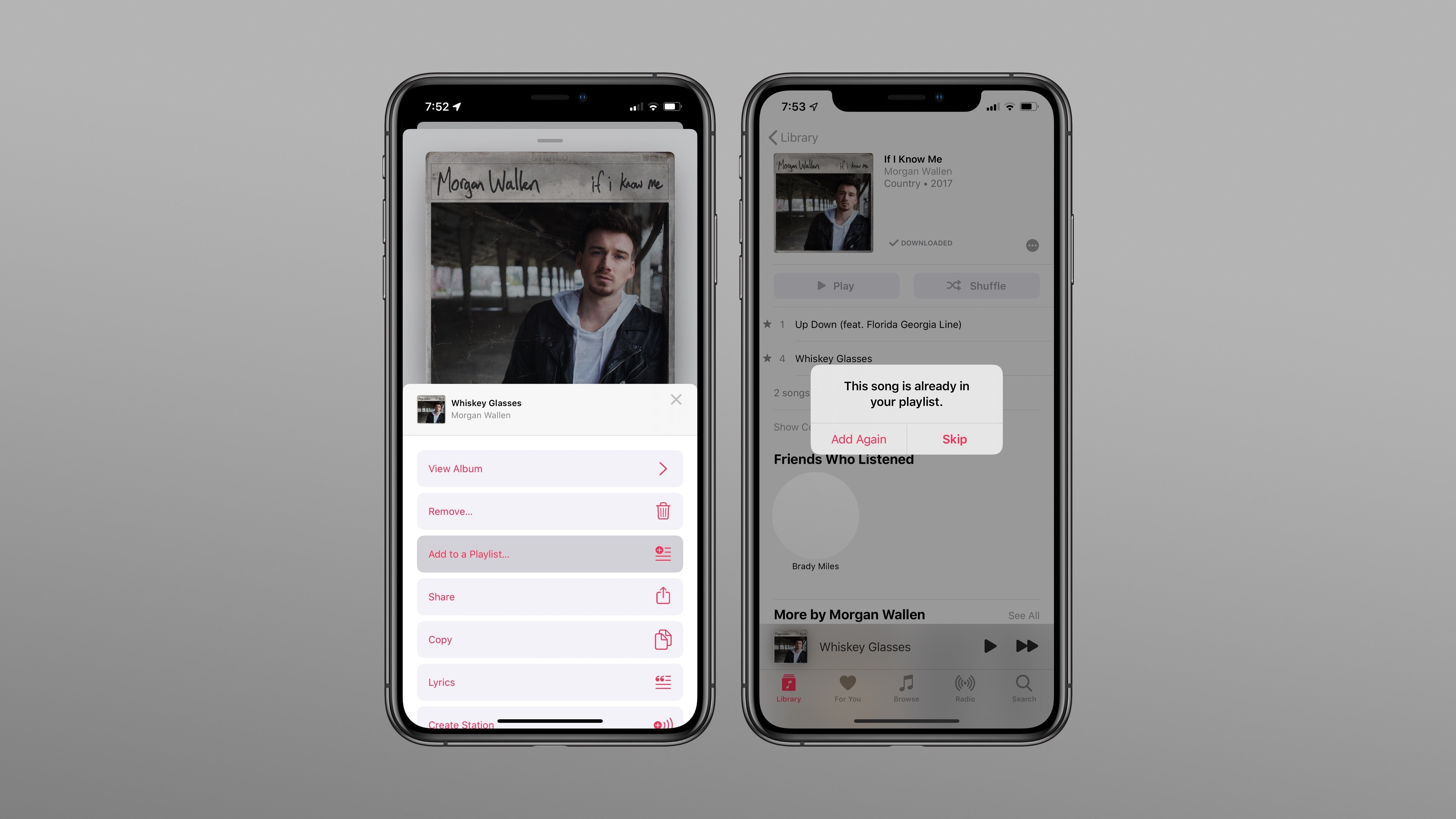 Alerta de música duplicada no Apple Music do iOS 13