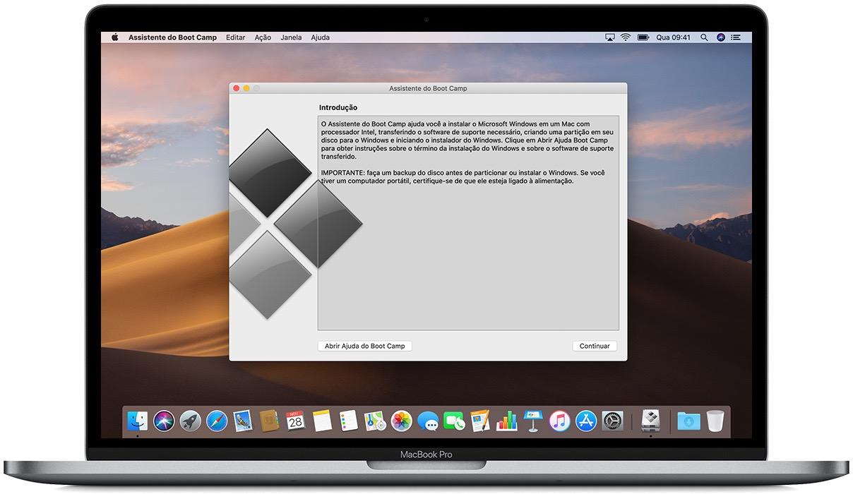 Boot Camp rodando o Windows 10 no macOS Mojave
