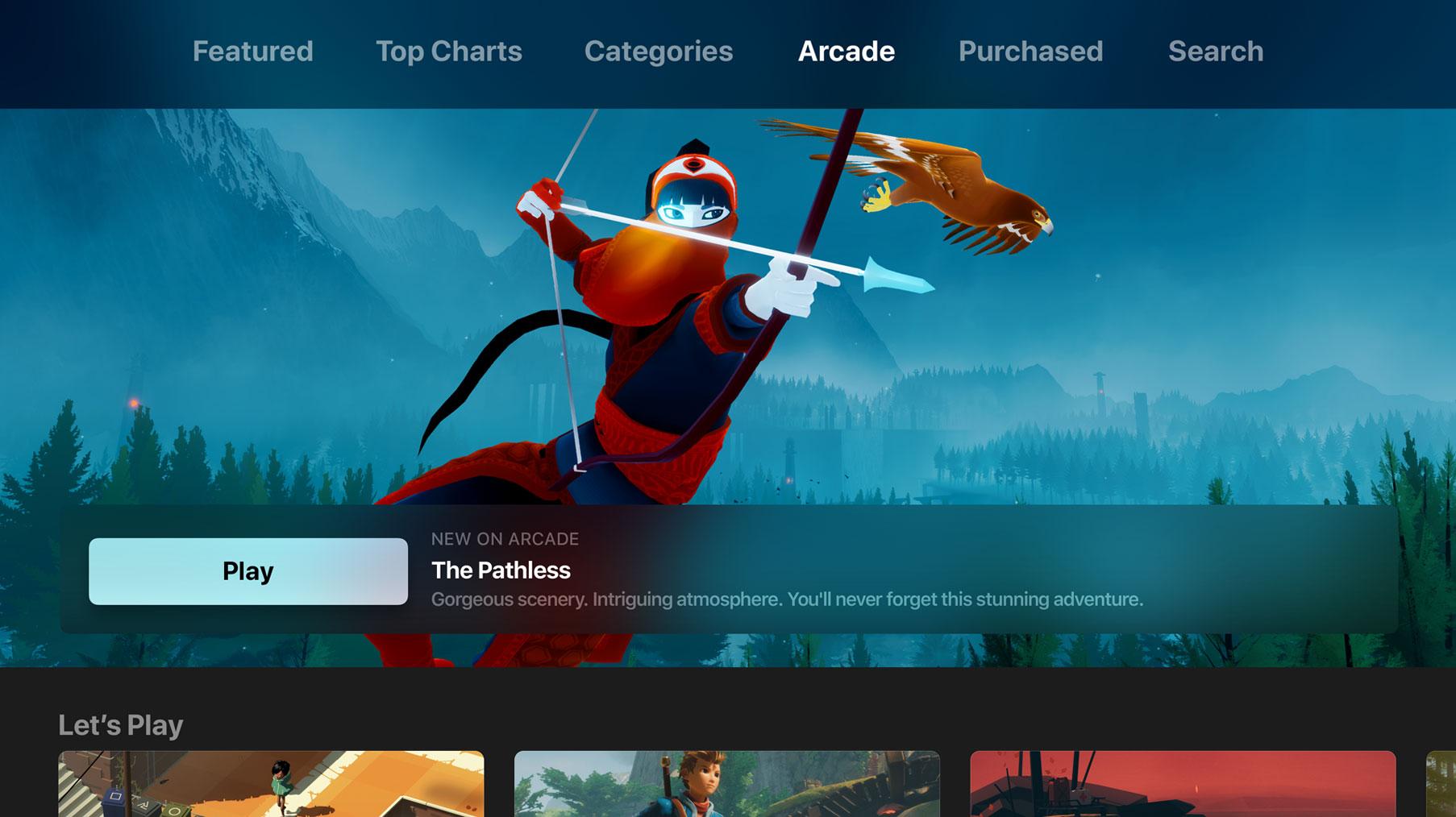 Screenshot do tvOS 13
