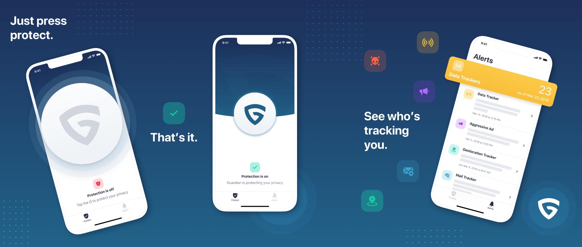 Guardian, Firewall e VPN para iOS