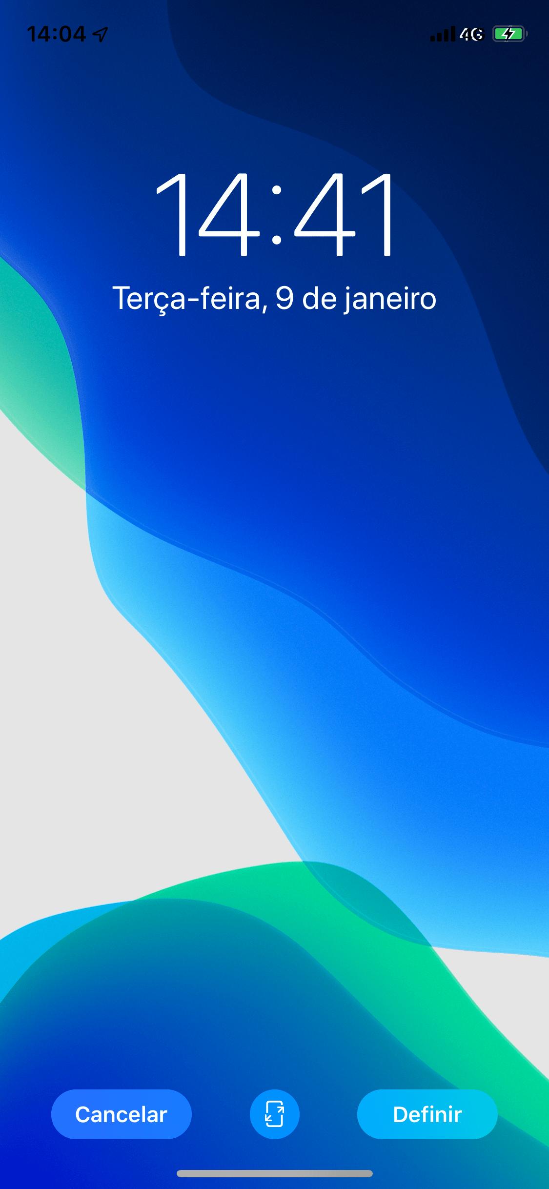 Novidades do iOS 13 - Plano de fundo (estático ou perspectiva)