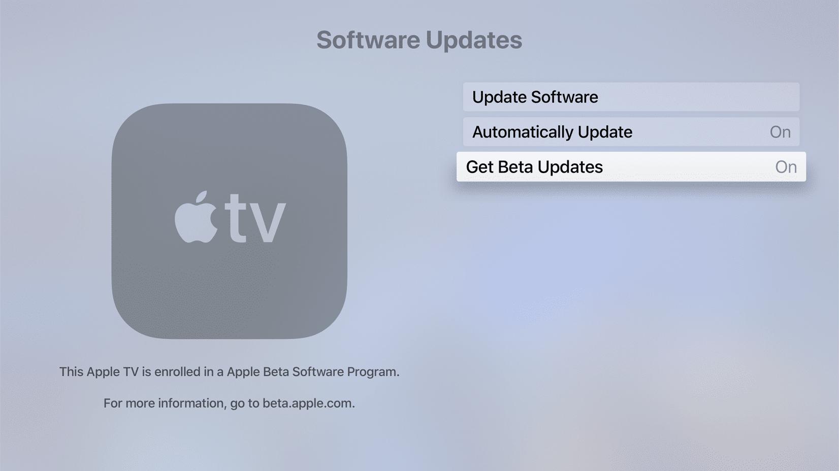 Instalando a versão beta pública do tvOS 13