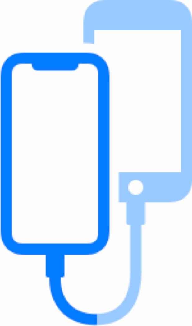 <em>Snippet</em> de iPhones conectados por cabo