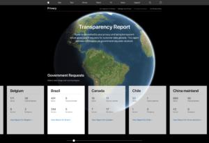 Relatório de Transparência da Apple para o 2º semestre de 2018