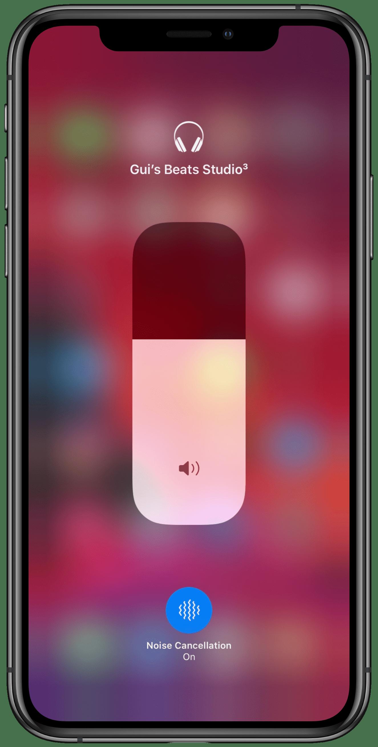 Cancelamento de ruído no iOS 13