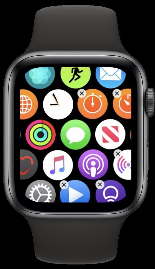 Deletar apps nativos no watchOS 6