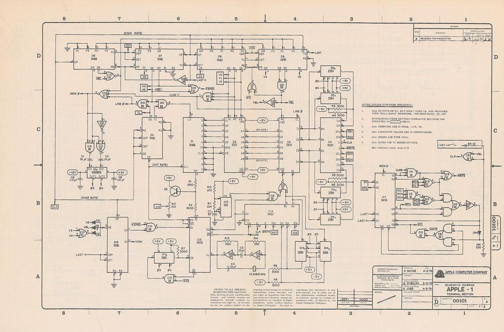 Página do manual do Apple I