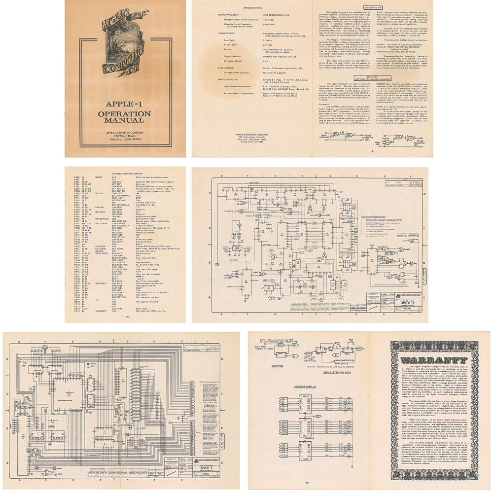 Manual original do Apple I