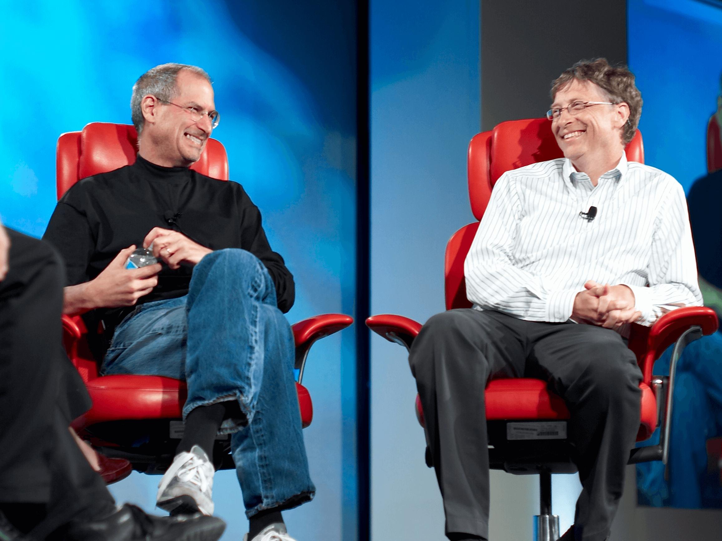 Steve Jobs e Bill Gates