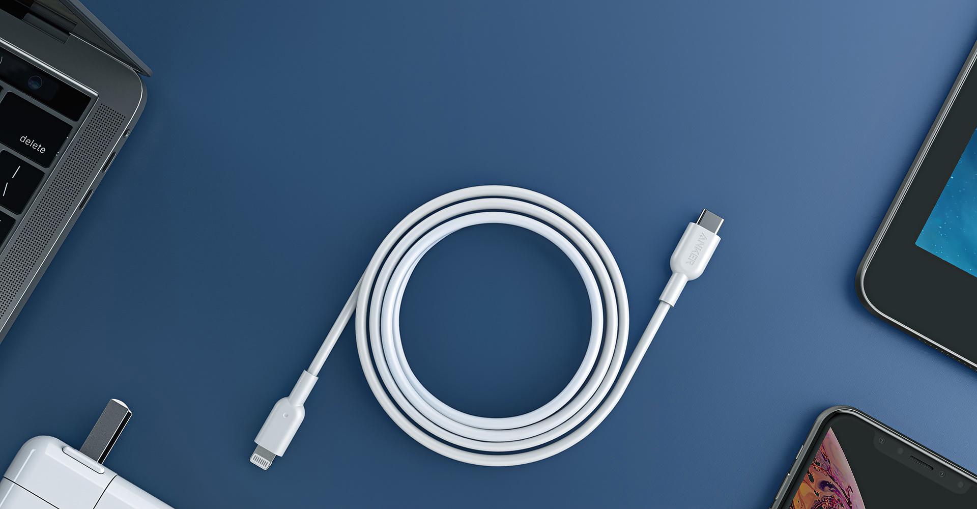 Cabo USB-C para Lightning da Anker