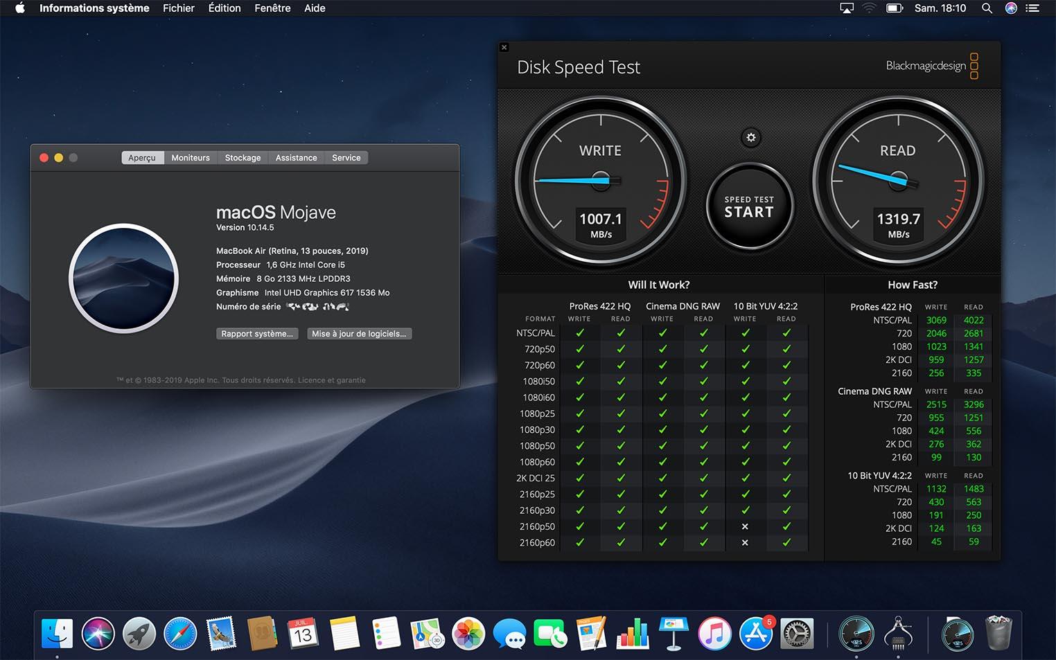 Teste de performance do SSD do novo MacBook Air