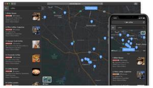 Modo escuro nos mapas da Apple no DuckDuckGo